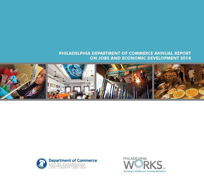 Report Design, Infographics, Visual Storytelling, Philadelphia Commerce Department